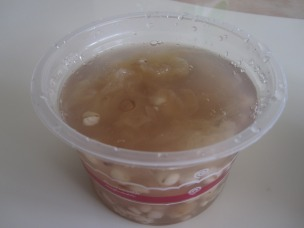 """Ying er""soup w/melted crystalized sugar"