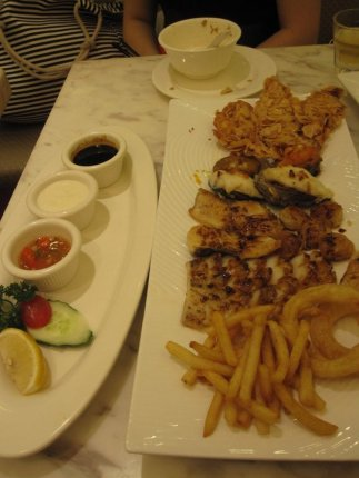 Seafood platter deliciousness in Shanghai