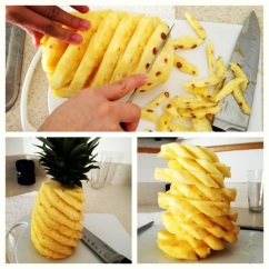 youtube how to cute an pineapple