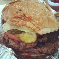 Five guys must have burger