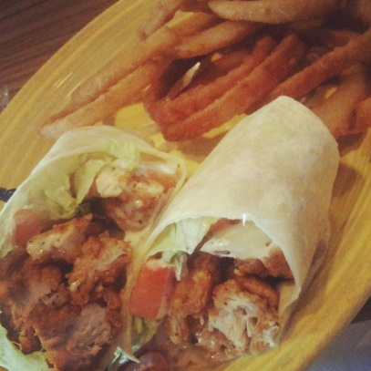 Maine chicken wrap lunch