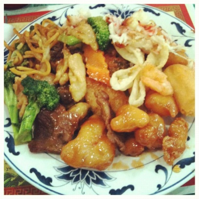 Chinese buffet eat all you can