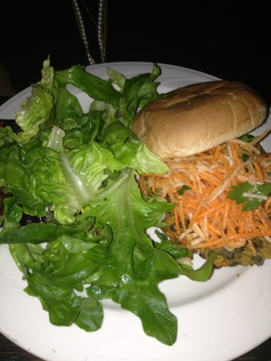 Chickpea-Lentil Burger (Park Restaurant and Bar/Boston MA)