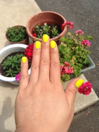 Bright OPI nail polish for the summer