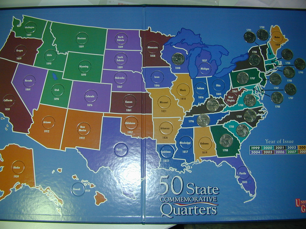 What Are State Quarters Worth Us Coin Map Us Free Download Images - Us national park quarters book