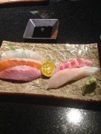raw fish variety plate 2
