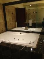bathtub in capital hotel room