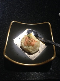 potato with salmon and roe plate 3