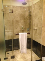 shower in capital hotel room