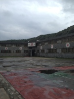 Prison basketball court