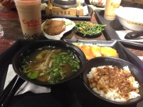 Taipei dinner with bubble tea