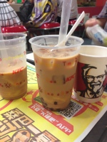 even KFC has red bean bubble tea