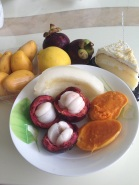 mangosteen, mango, melon