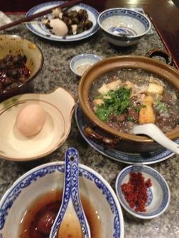 duck blood noodle soup