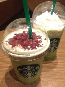 green tea and red bean Starbucks